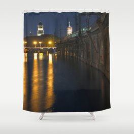 GHOST HOUR in BERLIN Shower Curtain