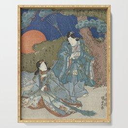 Jo and Uba - Japanese Art Serving Tray