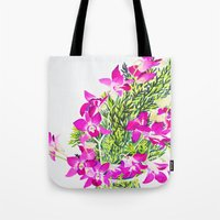 singapore Tote Bags featuring Singapore Orchids by marlene holdsworth