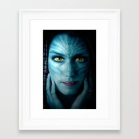 avatar Framed Art Prints featuring Avatar by Karel Stepanek
