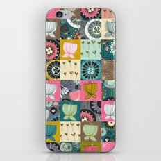 blooms patchwork iPhone & iPod Skin