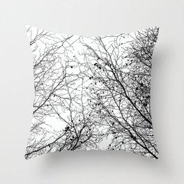Tree Silhouette Series 2 Throw Pillow