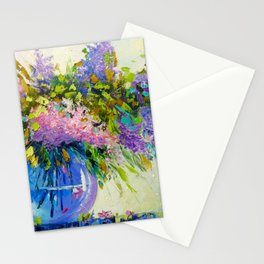 Bouquet of lilac Stationery Cards