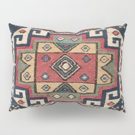 Cowboy Sumakh // 19th Century Colorful Red White Blue Western Lone Star Dallas Ornate Accent Pattern Pillow Sham