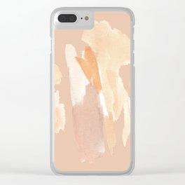Minimalist Watercolor Blush Tones Art Print Clear iPhone Case