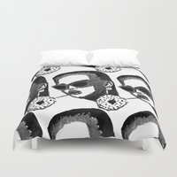 model Duvet Covers featuring MODEL  by Happy as Flynn