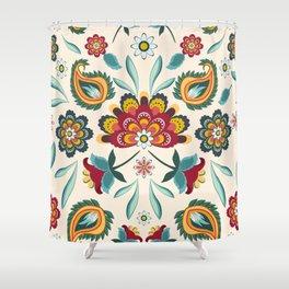 Floral Batik Hippie Boho Print Western Americana Shower Curtain