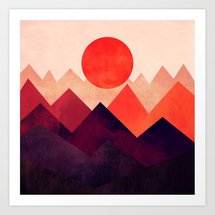 Touched By The Sun Art Print