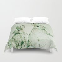 bunnies Duvet Covers featuring Bunnies by ajtaylor