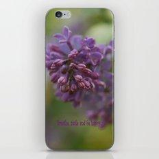 Lilac Time iPhone & iPod Skin