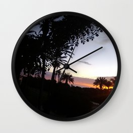 Sunset in San Clemente Wall Clock