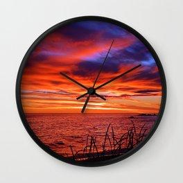 The Mighty Saint-Lawrence at Dawn Wall Clock