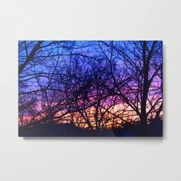 branch silhouette Metal Print