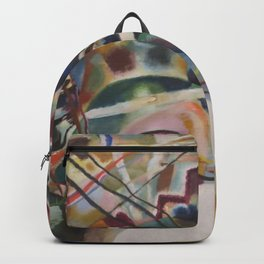 Wassily Kandinsky - Painting with White Border Backpack