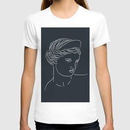 Aphrodite Minimalism Line Art - Dark Academia Inspired T-shirt