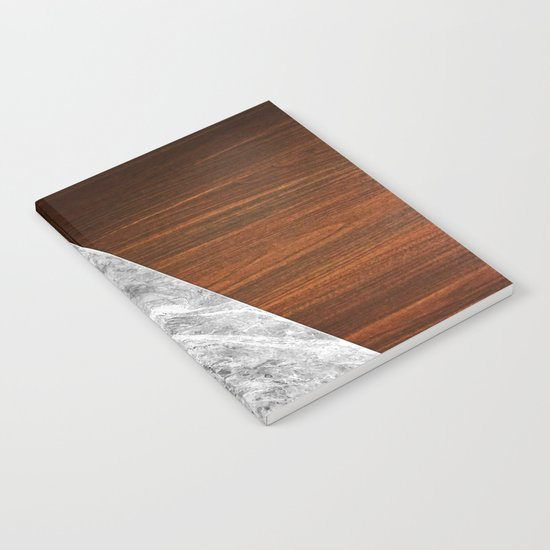 Wooden Marble Notebook