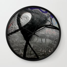 The Writing (And Printing) On The Wall Wall Clock