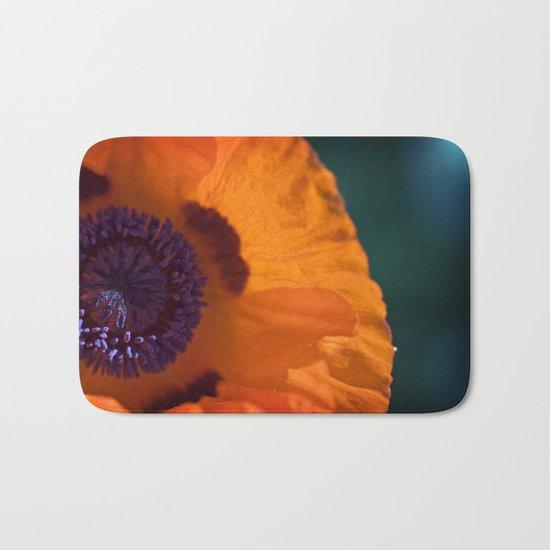 Orange Poppy Bath Mat