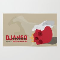 django Area & Throw Rugs featuring Django Unchained by Geminianum