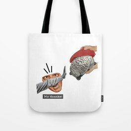No thanks / collage / moon water Tote Bag
