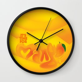 I Love Mango Wall Clock
