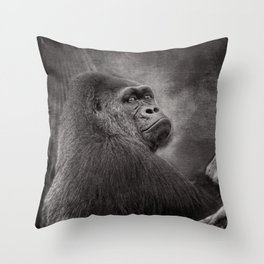 Gorilla. Silverback. BN Throw Pillow