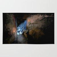 castlevania Area & Throw Rugs featuring Castlevania: Vampire Variations- Hall by LightningArts
