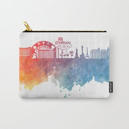 Las Vegas Nevada Skyline colored Carry-All Pouch