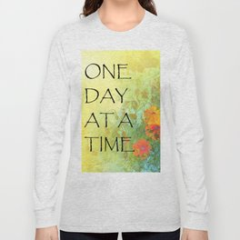 One Day at a Time (ODAT) Lilacs & Poppies Long Sleeve T-shirt