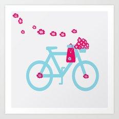 Blue Bicycle Art Print