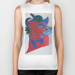 Red horse abstract modern paitings by Christian T. Biker Tank
