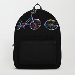 Friends Bicycle Bike Rainbow Rider Cool Fun Gift Backpack