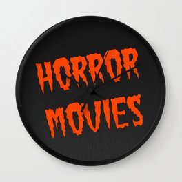 Horror Movies Wall Clock