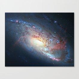 Spiral Galaxy M106, in the constellation Canes Venatici. Canvas Print