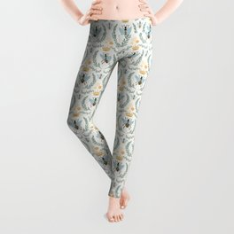Queen Bee with Gold Crown and Laurel Frame Leggings