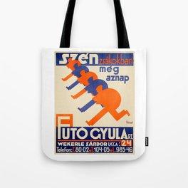 Hungarian vintage poster, Szén Zsákokban Tote Bag