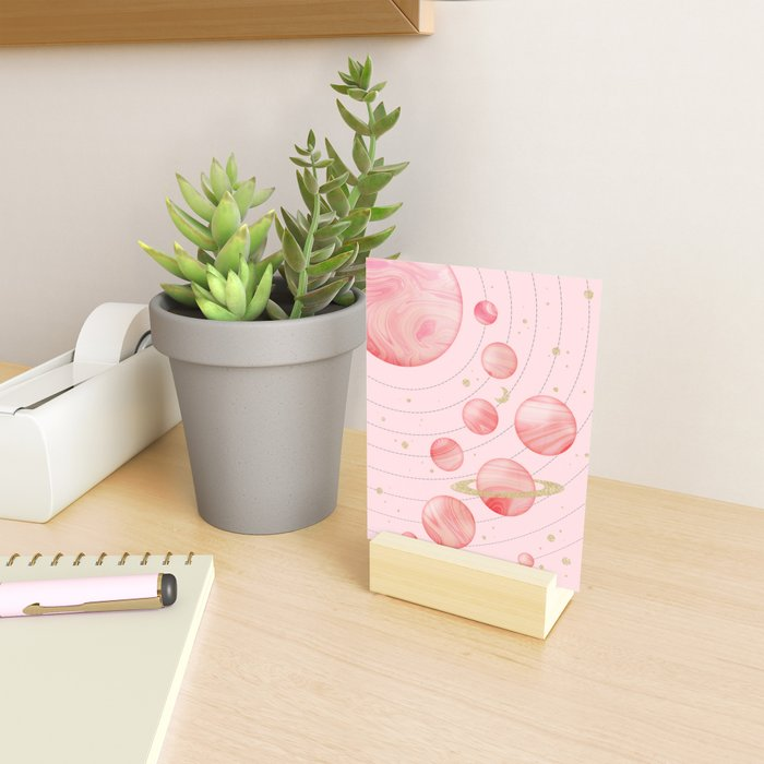 The Pink Solar System Mini Art Print