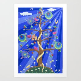 Mandala Tree of Life and Love Art Print