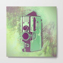 Retro Vintage Camera Metal Print