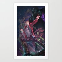 guardians of the galaxy Art Prints featuring Guardians Of The Galaxy by Arashi.C