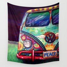 Peacemobile- by Kerian Babbitt Massey Wall Tapestry