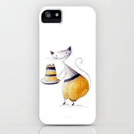 Greedy Cat iPhone Case