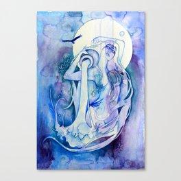 Goddess of Aquarius - An Air Elemental Canvas Print