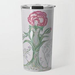 Flor De Fantasias Carnation Travel Mug