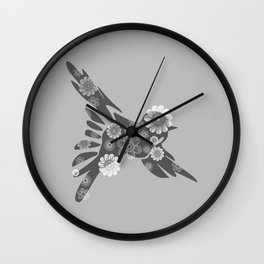 Hippie Bird Wall Clock
