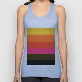 Earth and Summer Sky - Color Strips - Colors of Travel Unisex Tank Top