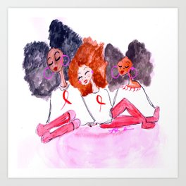 Unbothered Breast Cancer Awareness Art Print