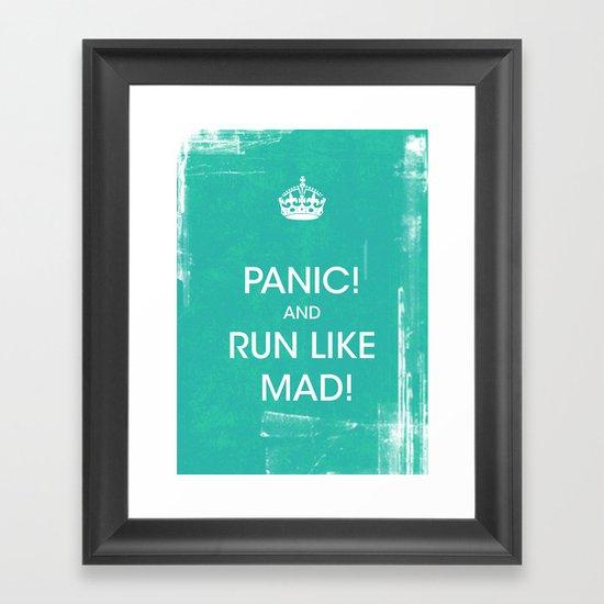 PANIC Framed Art Print