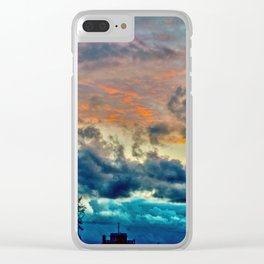 Sunset and Storm Clear iPhone Case