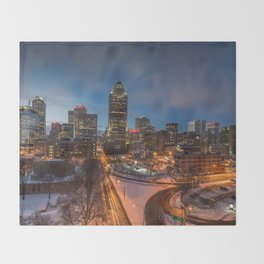 Montreal By Night Throw Blanket
